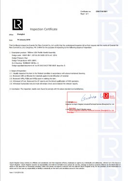 Lloyd's Classification Society Certification
